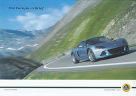 Europa S Coupe, 2 page leaflet, DIN A4-size, factory-issued, 2006, English language
