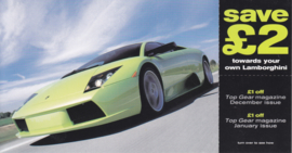 Gallardo postcard, DIN A6-size with flap English language, 2001, issue by Top Gear