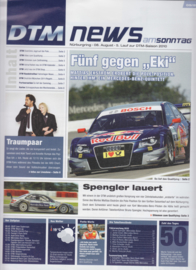 DTM News of 2010 Season, 8 pages, date 08-08-2010, German language