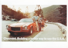 Camara RS Coupe 1972, A6 size postcard, 100 years of Chevrolet by GM Europe, 2011