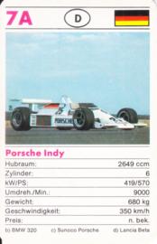 Indy racer - card 7A - size 9 x 6 cm, German language