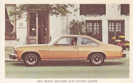 Skylark S/R 2-Door Coupe, US postcard, standard size, 1975