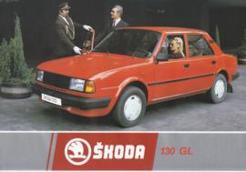 130 GL Sedan leaflet, 2 pages, German language, about 1985