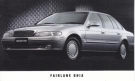 Fairlane Ghia, standard size postcard, Australia