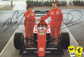 Formula One autogram postcard with drivers Prost & Mansell, 1990, # 597