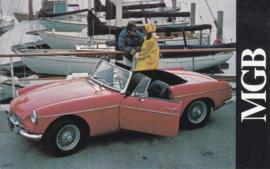 B Roadster Convertible, standard size postcard, USA, 1968