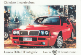 Delta HF Integrale 1992 postcard, DIN A6-size, Vintage Ad Gallery issue, 2000, # 61