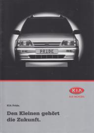Pride brochure, 8 pages + 6 page price list, 2000, German language