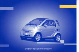 Smart Fortwo Edition Creamstyle, A6-size postcard, IAA 2001