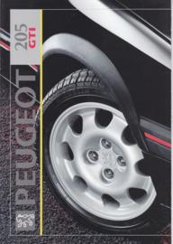 205 GTi 1.9 brochure, 12 pages, A4-size, 1992, Dutch language