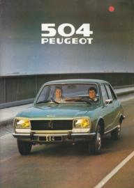 504 Sedan brochure, 16 pages, A4-size, 1979, Dutch language