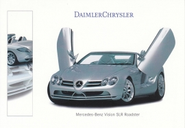 Mercedes-Benz Vision SLR Roadster, A6-size postcard, IAA 1999, German