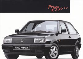 Polo Prego brochure, A4-size, 4 pages, Dutch language, 04/1993