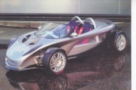 340 R,  A6-size postcard, 1998, UK, Birmingham Motorshow