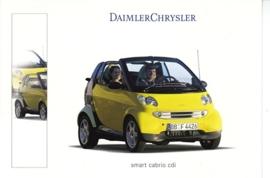 Smart Fortwo Cabrio CDI, A6-size postcard, Geneva 2001