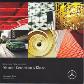 A-Klasse new generation brochure, 32 pages, square, 07/2015, German language