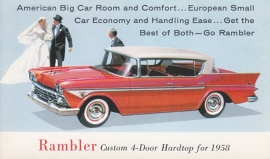 Custom 4-Door Hardtop, US postcard, standard size, 1958, # AM-58-6516 E