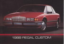 Regal Custom, US postcard, standard size, 1988