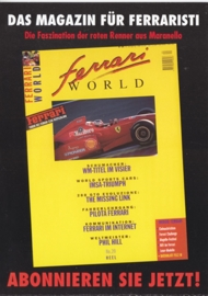 Targa Florio painting, A6-size double postcard, issue by Ferrari Magazine, German language
