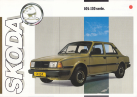 105/120 Serie 4-Door Sedan leaflet, 2 pages, Dutch language, about 1985