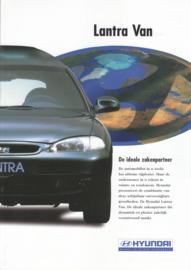 Lantra High Roof  Van leaflet, 2 pages, 01/1998, Dutch language