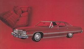 Caprice Classic Sport Sedan,  US postcard, standard size, 1974