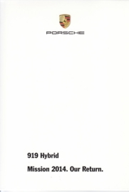 919 Hybrid racecar,  A6-size set with 11 postcards in white cover, 2014, WDMZ 1401 0001 00, no text