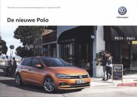 Polo pricelist brochure, A4-size, 32 pages, 08/2017, Dutch language