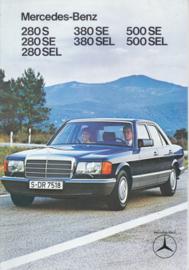 280/380/500 S-class brochure, 12 pages, 8/1979, Dutch language
