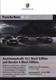 News 01/2011 with Black Editions, 28 pages, 03/11, German language