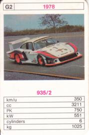 935/2 racer - 1978 - card # G2 - size 10 x 6,5 cm