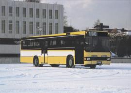 Sisu BK 190 D bus leaflet, 2 pages, A4-size, 01/1983, Finnish language