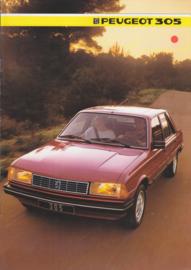 305 Sedan brochure, 8 pages, A4-size, 1985, Dutch language