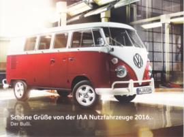 Bulli T1 Transporter, larger size postcard, 18 x 13,5 cm, 2016, German
