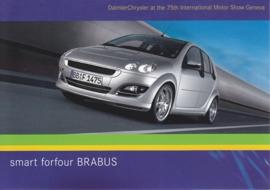 Smart Forfour Brabus, A6-size postcard, Geneva 2005