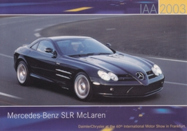 Mercedes-Benz SLR McLaren, A6-size postcard, IAA 2003