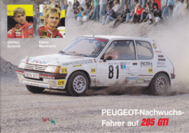 205 GTI  with Steffen Schmid & Klaus Meumann, A6-size postcard, about 1985