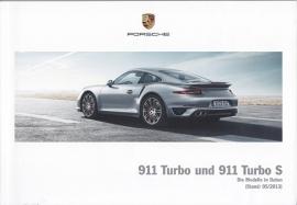 911 Turbo / Turbo S Pricelist, 88 pages, 05/2013, WPLK 1401 0001 11, German