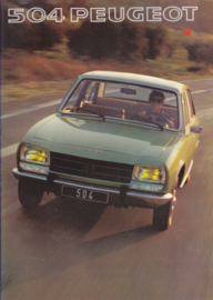 504 Sedan brochure, 20 pages, A4-size, 1977, Dutch language