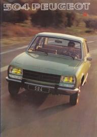 504 Sedan brochure, 20 pages, A4-size, 1977, Dutch language