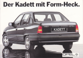 Kadett postcard, DIN A6-size, about 1977, German language