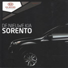 Sorento intro brochure, 4 pages, 2010, Dutch language