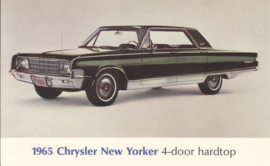 New Yorker 4-Door Hardtop, US postcard, large size, 1965