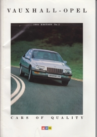 Vauxhall-Opel all models brochure, 140 pages, English language, V6253, 01-1988, UK