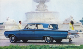 Monterey 2-door Sedan, US postcard, standard size, 1964