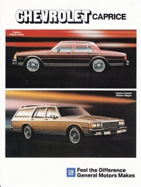 Caprice Classic models 1984, 2 pages, export, 09/1983, German language
