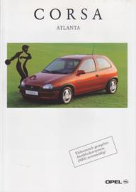 Corsa Atlanta special edition brochure, 6 pages, 01/1997, German language