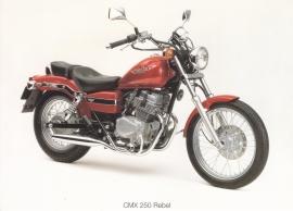 Honda CMX 250 Rebel postcard, 18 x 13 cm, no text on reverse, about 1994