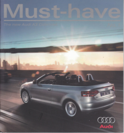 A3 Cabriolet brochure, 10 pages, 12/2007, English language