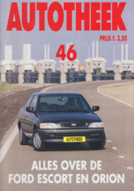 issue # 46, Ford Escort & Orion, 32 pages, 11/1992, Dutch language